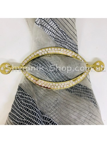 Шторная заколка Металлическая Глазик Турция Диаметр внутрений : 11*5 cm  Цвет : Золото в упаковке 1 шт цена за упаковку