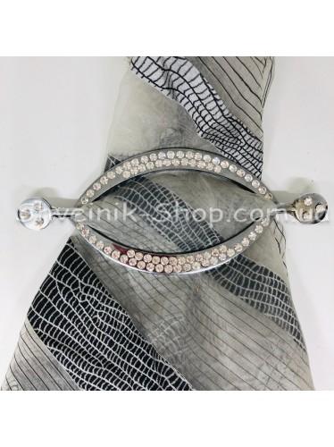 Шторная заколка Металлическая Глазик Турция Диаметр внутрений : 11*5 cm  Цвет : Серебро в упаковке 1 шт цена за упаковку