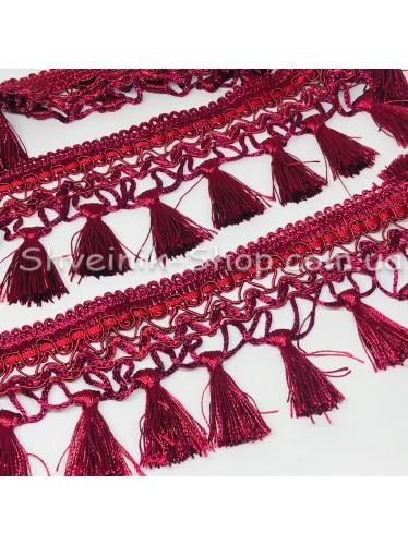 Бахрама Шторная Длина : 8 см   Цвет : Бордо в упаковке 15 метров цена за упаковку