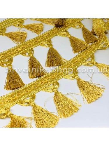 Бахрама Шторная Длина : 10 см   Цвет : Золото в упаковке 15 метров цена за упаковку