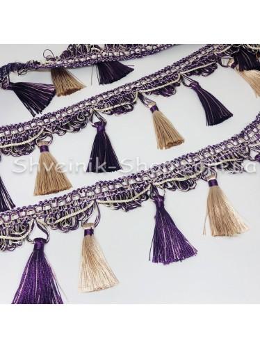 Бахрама Шторная Длина : 10 см   Цвет : Фиолетовая в упаковке 15 метров цена за упаковку