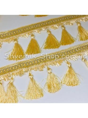 Бахрама Шторная Хрусталь + Кисточка Длина : 10 см   Цвет : Светлое Золото в упаковке 15 метров цена за упаковку