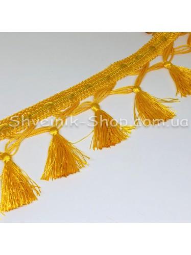 Бахрама Шторная Длина : 10 см   Цвет : Желтая  в упаковке 15 метров цена за упаковку