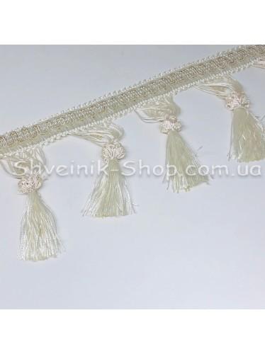Бахрама Шторная Длина : 10 см   Цвет : Белая  в упаковке 15 метров цена за упаковку