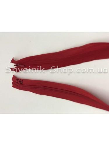 Змейка потайная 50см Цвет Красный №148 в упаковке 100 штук