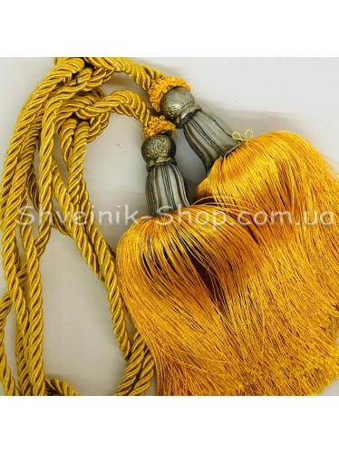 Кисти Шторные  Длина Кисти : 21 см Цвет :  Золото  цена за пару
