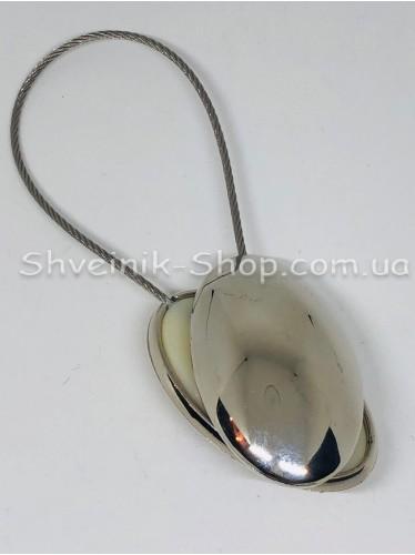 Магнит Шторный на Тросе с Овал цвет : Серебро цена ща 1 штуку