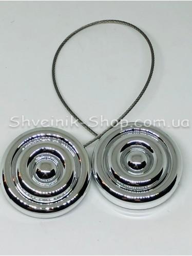 Магнит Шторный на Тросе с Улитка цвет : Серебро цена за 1 штуку
