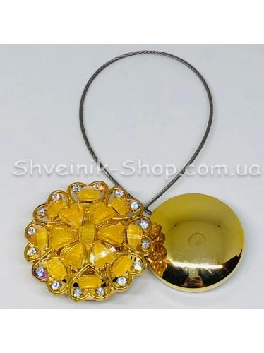 Магнит Шторный на Тросе с Камнем  цвет : Золото цена за 1 штуку