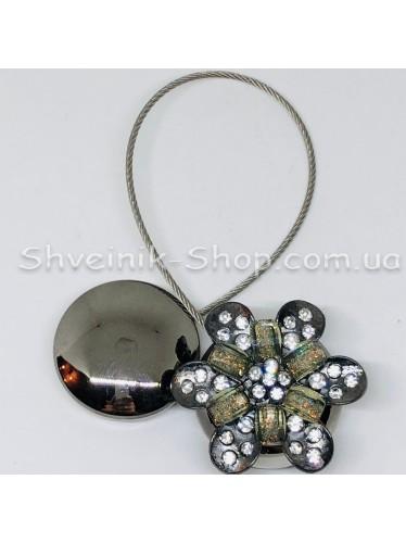 Магнит Шторный на Тросе с Камнем  цвет : Блек Никель цена за 1 штуку