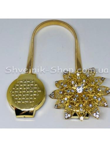 Магнит Шторный Пружина с Камнем цвет : Золото цена за 1 штуку