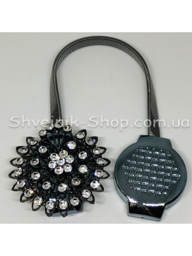 Магнит Шторный Пружина с Камнем цвет : Блек Никель цена за 1 штуку