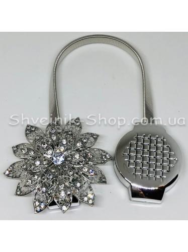 Магнит Шторный Пружина с Камнем цвет : Серебро цена за 1 штуку