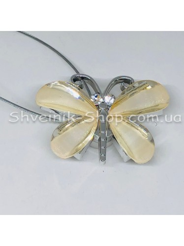 Магнит на тросе Бабочка  цвет : Молоко цена за 1 штуку