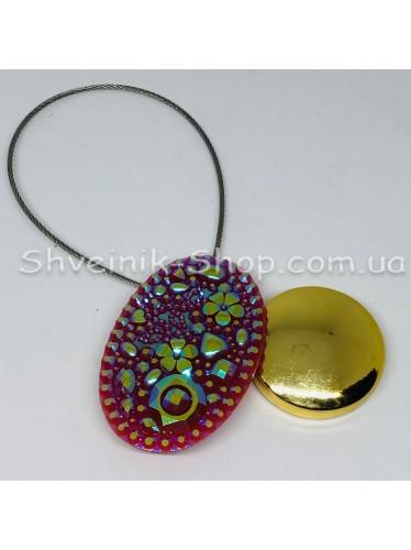 Магнит на тросе Овал Цвет : Бордо цена за 1 штуку