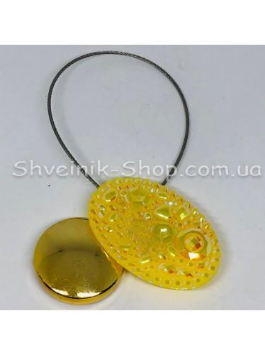 Магнит на тросе Овал Цвет : Желтые цена за 1 штуку