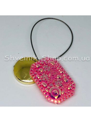 Магнит на тросе Прямоугольный Цвет : Розовый  цена за 1 штуку