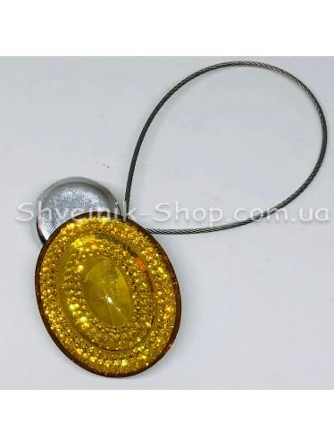 Магнит на тросе Овал Цвет :  Золото цена за 2 шт