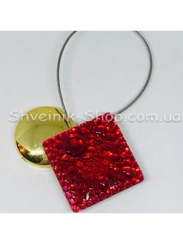 Магнит на тросе Квадрат Цвет : Красный цена за 1 шт
