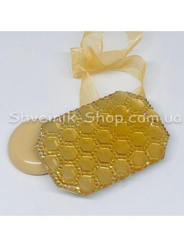 Магнит для Штор на Ленте Прямоугольный Цвет : Золото  цена за 2 шт