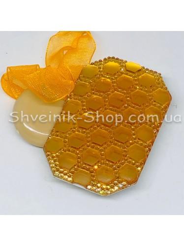 Магнит для Штор на Ленте Прямоугольный Цвет : Оранжевый  цена за 2 шт