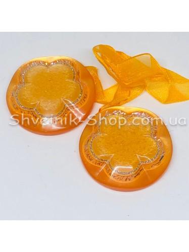 Магнит для Штор на Ленте Круглый Цвет : Оранжевый цена за 1 шт