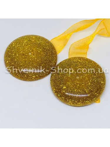 Магнит для Штор на Ленте Таблетка Цвет : Золото  цена за 1 шт