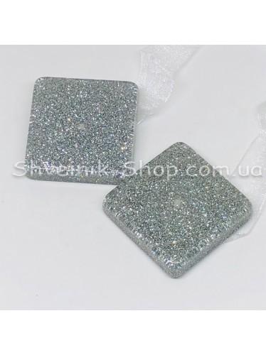 Магнит для Штор на Ленте Квадрат Цвет : Серебро цена за 1 шт