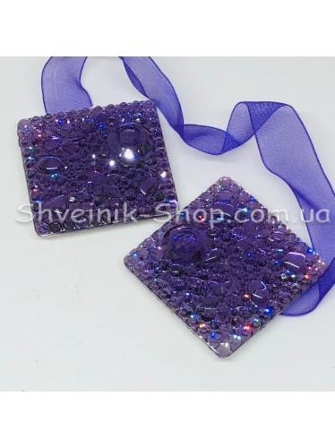 Магнит для Штор на Ленте Квадрат Цвет : Фиолетовый цена за 1 шт