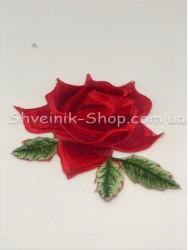 Аппликация роза с паеткой в упаковке 20шт  цена за упаковку