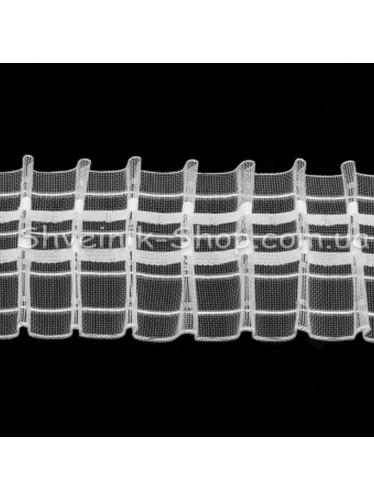 Тесьма Шторная Равномерная Органза  Размер : 6 см в упаковке 50 метров ( Турция )