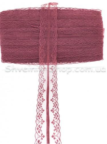 Кружево  цвет Бордо в упаковке 46 метров Ширина 4,5 cм цена за упаковку