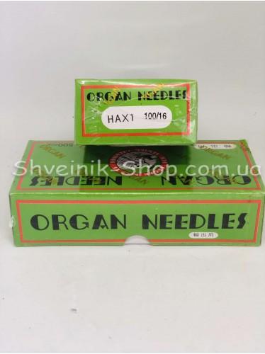 Иглы машинные бытовые  Organ #100 в упаковке 500 штук цена за упаковку