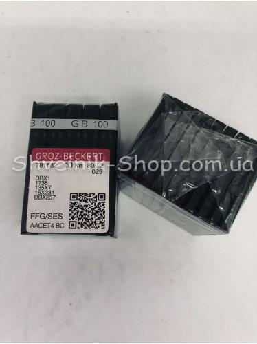 Иглы машинные промышленые GROZ-BECKERT DB-1 #80 в упаковке 100 штук цена за упаковку