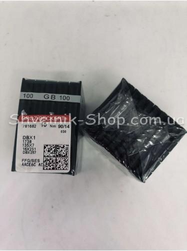 Иглы машинные промышленые GROZ-BECKERT DB-1 #90 в упаковке 100 штук цена за упаковку