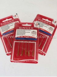 Иглы машинные бытовые  SINGER HA #110 в упаковке 5 иголак цена за листик