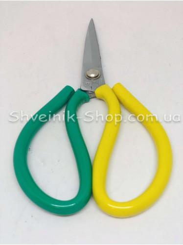 Ножницы с резиновыми ручками длина лезвия 6 см