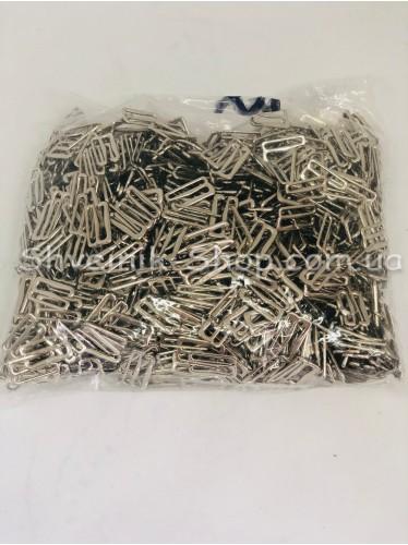 Крючок для бретелек металл цвет Серебро размер 1,5 см в упаковке 1000 штук цена за упаковку