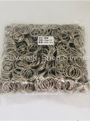 Кольцо для бретелек металл цвет Серебро размер 1,9 см в упаковке 1000 штук цена за упаковку
