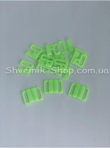 Застежка на купальники пластик цвет Салатовый размер 1,5 см в упаковке 200 штук цена за упаковку