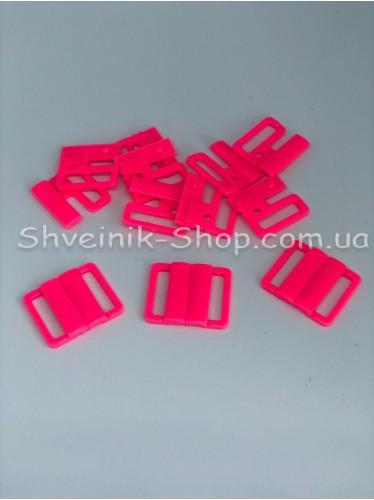 Застежка на купальники пластик цвет Розовый размер 2 см в упаковке 200 штук цена за упаковку