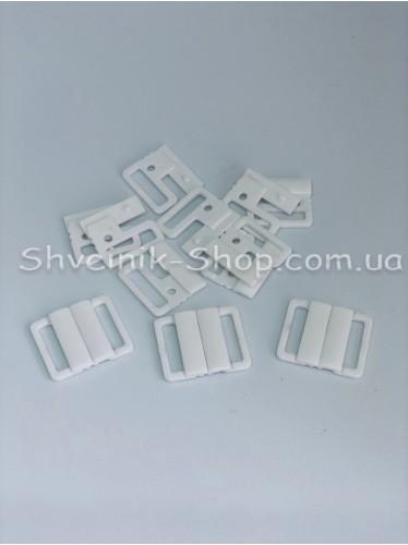 Застежка на купальники пластик цвет Белый размер 2 см в упаковке 200 штук цена за упаковку
