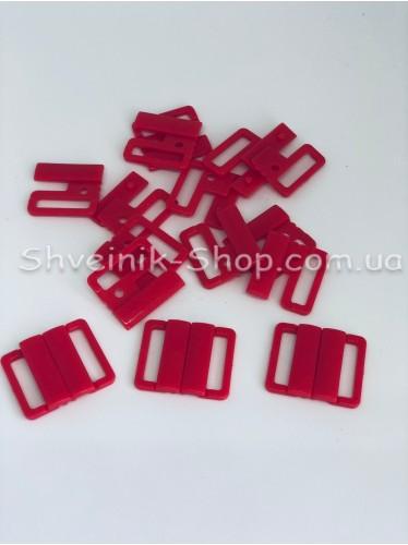 Застежка на купальники пластик цвет Красный размер 2 см в упаковке 200 штук цена за упаковку