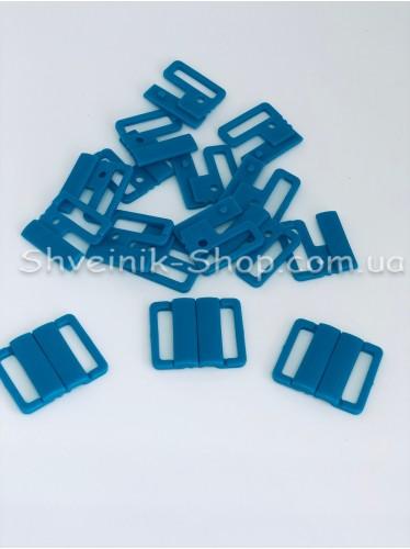 Застежка на купальники пластик цвет Бирюзовый размер 2 см в упаковке 200 штук цена за упаковку