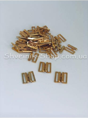 Застежка на купальники металл цвет Золото размер 1,5 см в упаковке 200 штук цена за упаковку