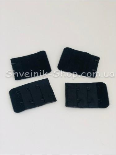 Удлинители для бюстгальтера на два крючка ширина 3,5 см в упаковке 100 штук цвет Черный