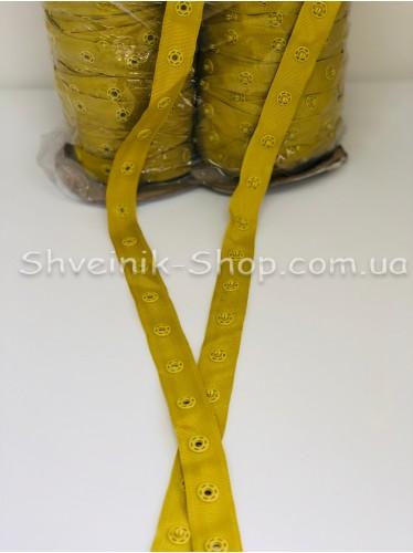 Кнопка Боди на бобине в упаковке 46 метров цвет Оливка цена за упаковку