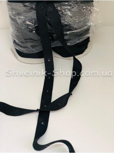 Кнопка Боди на бобине в упаковке 46 метров цвет Черный цена за упаковку