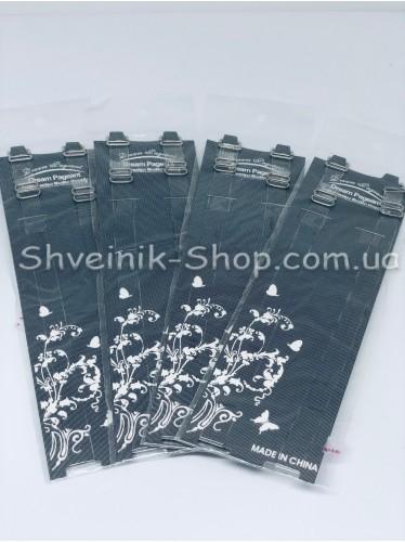 Бретельки силиконовые с серебряной металлической фурнитурой 1 см