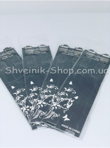 Бретельки силиконовые с серебряной металлической фурнитурой 1,5 см